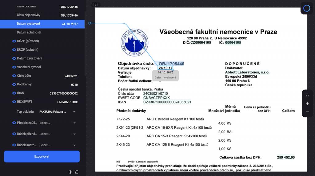 Rossum user interface - validation