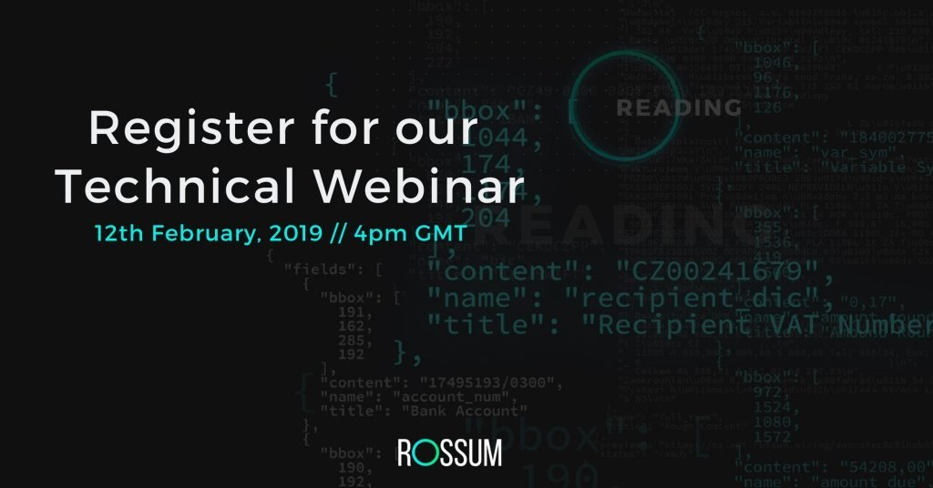 Rossum Technical webinar