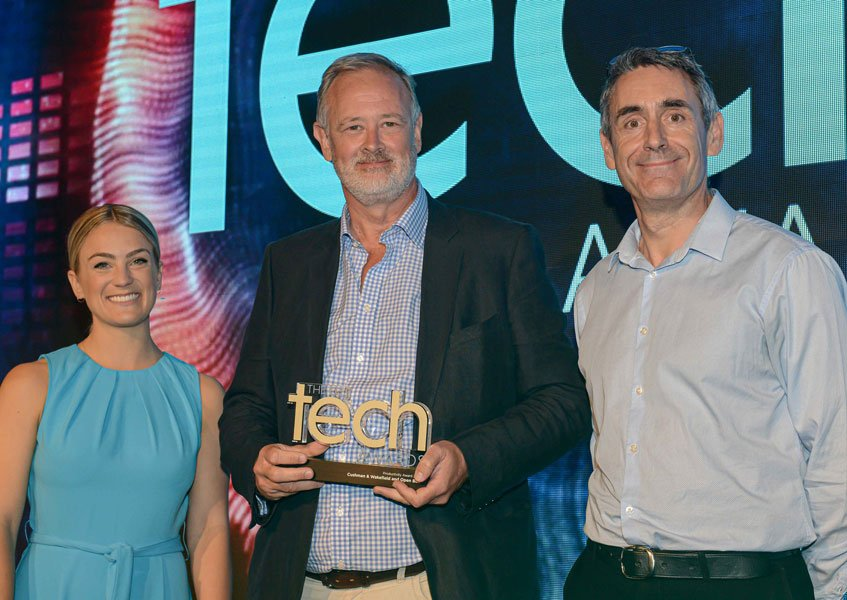 Cushman & Wakefield and Open Box receiving ED Tech Award in the Productivity category.