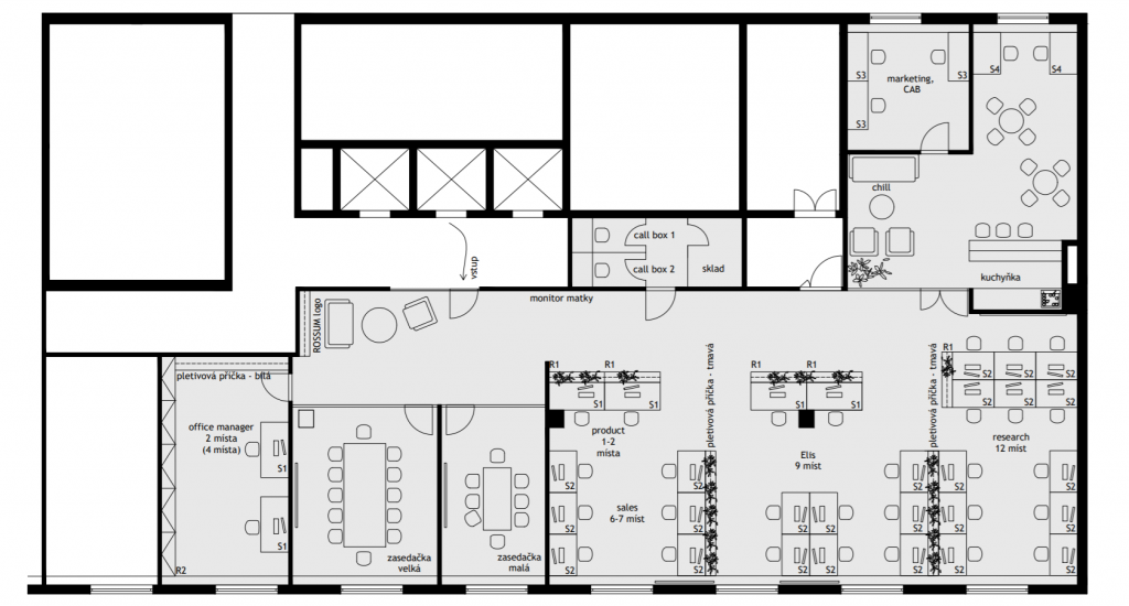 Rossum's floor plan
