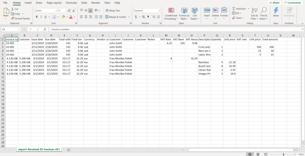 Review Excel file