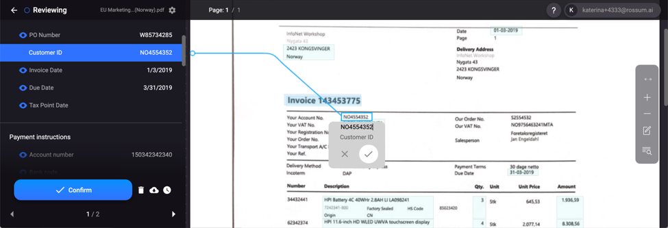 Changepond annotates invoices which trained Rossum's AI.