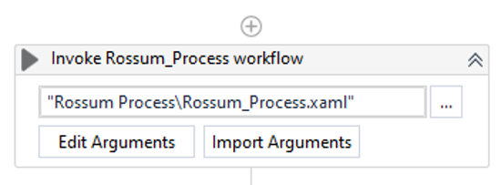Invoking the Rossum Workflow.