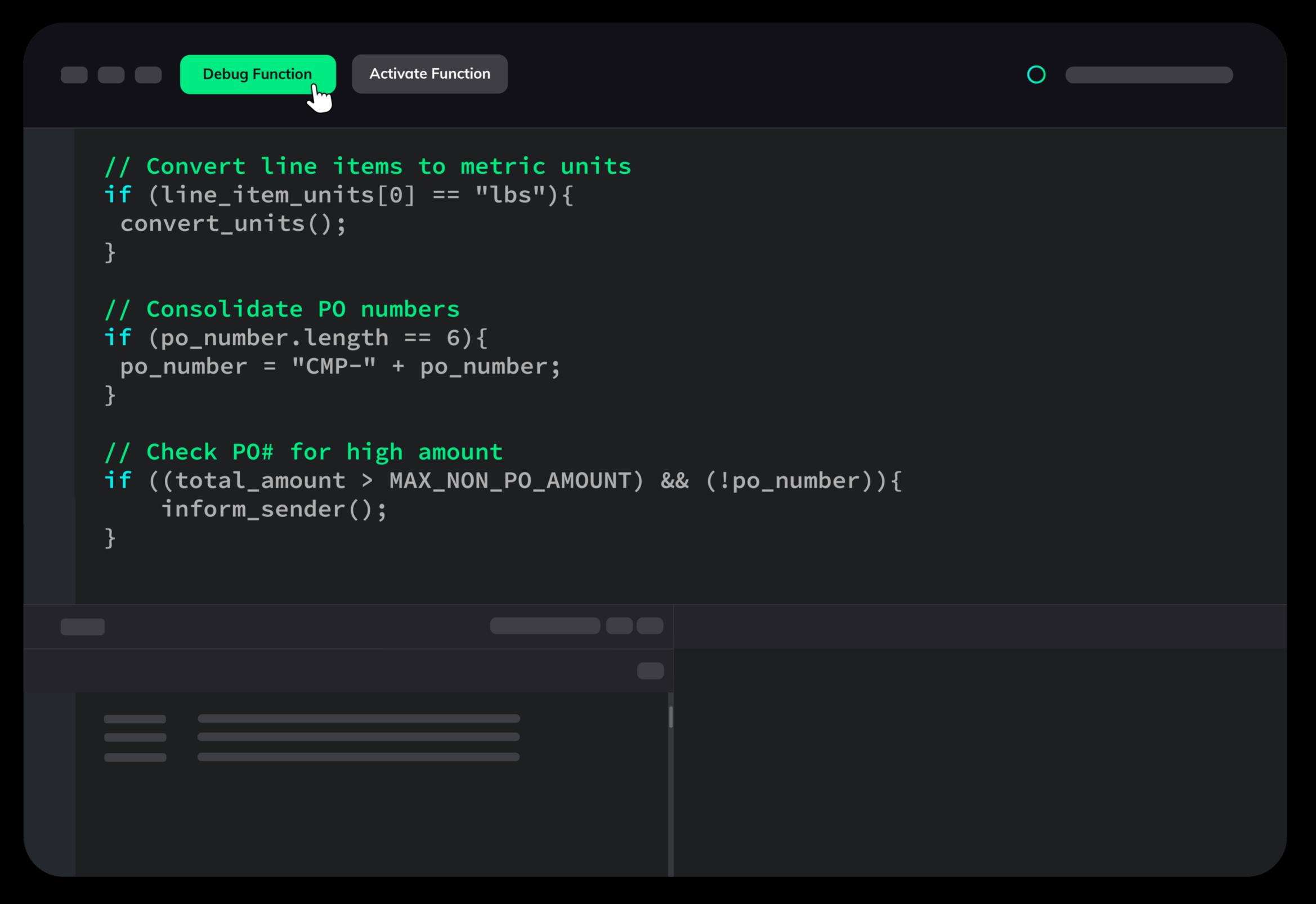Custom functions extension